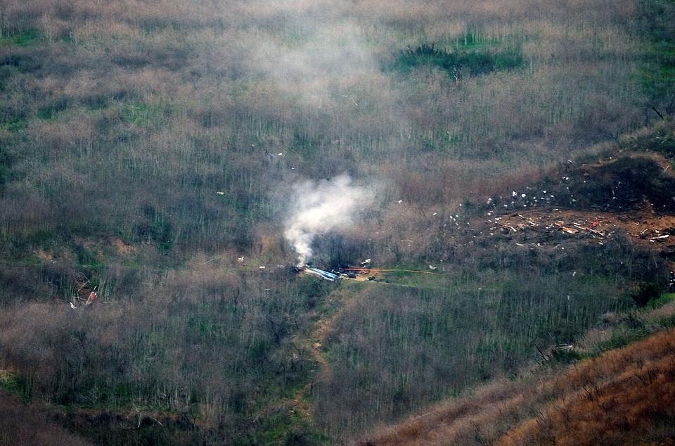 Место крушения вертолета Фото: REUTERS