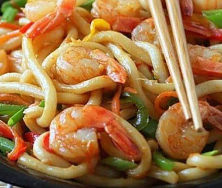 Лапша удон рецепт 🥝 приготовление вок лапши с морепродуктами