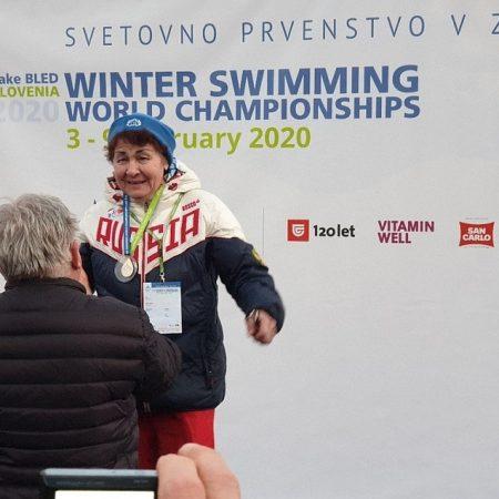 83-летняя пермячка завоевала золото Чемпионата мира по зимнему плаванию