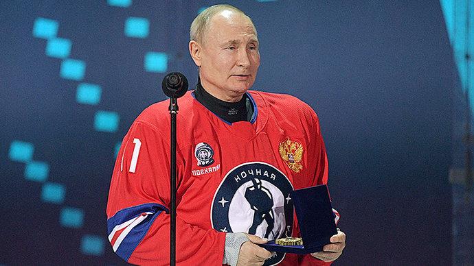 «Продлевайте свою жизнь. Делайте ее качественнее». Путин произнес речь перед началом гала-матча Ночной хоккейной лиги