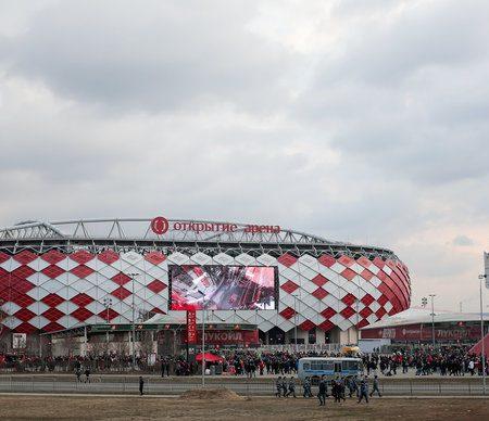 Рядом со стадионом «Спартака» произошел пожар
